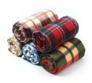 Polar Fleece Check Blanket 01