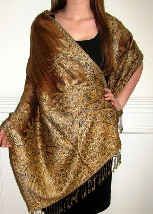 Designer Silk Pashmina Shawls