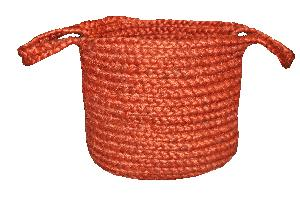AW-Colored Jute braided Basket -008
