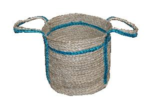 AW_ Two Color Jute Braided Basket -010