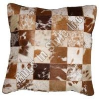 Leather Cushion Cover Exotic Brown