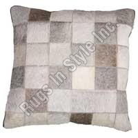 Leather Cushion Cover Grey