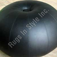 Leather Oval Pouff