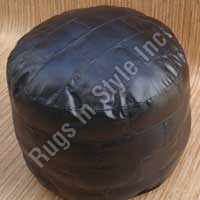 Leather PU Puff