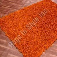 Plain Leather Shag (Orange)