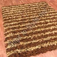 Stripe Patter Shag (Beige & Brown)