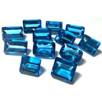 Faceted Swiss Blue Topaz