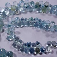Faceted Tear Drops Briolette Beads