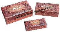 Carved Wooden Boxes -  (01)