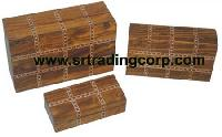 Carved Wooden Boxes - (03)