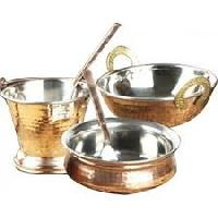 copper serving sets