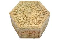 stone carved boxes