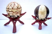 Wooden Ball Stand With Ball.