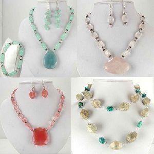 Semi Precious Gemstone Necklace Set
