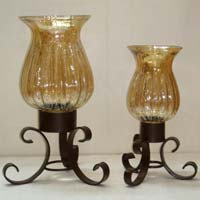 Glass Hurricane Lamp (AC - 943)