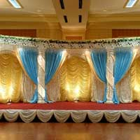 Crystal Pillar Wedding Stage