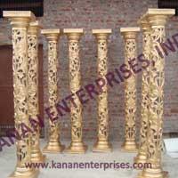 Golden Wedding Pillars