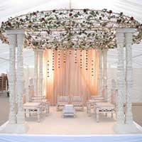 Round Wrough Iron Top Mandap