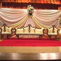 Wedding Stage with Antique Sofa Set