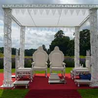 Wrough Iron Crystal Mandap