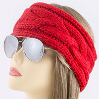 Cable Pattern Centered Knit Headwrap