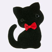 Cat Decor Accent Brooch