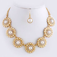 Crystal Necklace (NS2995#1)