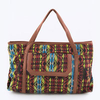 Jacquard Pattern Fashion Tote Bag
