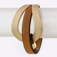 Leather Bracelet (BC604241#5)
