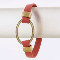 Leather Bracelet (BC606542#6)