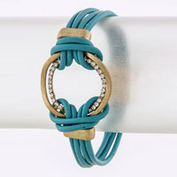 Leather Bracelet (BC607600#5)
