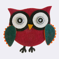 Owl Deco Accent Brooch