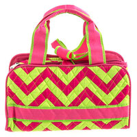 Quilted Chevron Print Bag
