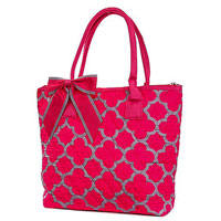 Quilted Quatrefoil Pattern Bag
