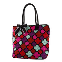 Quilted Quatrefoil Pattern Tote Bag