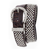 Studded Metal Crystal Belt