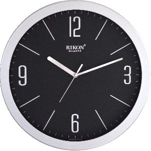 1751-B BLACK SILVER Economic Wall Clock