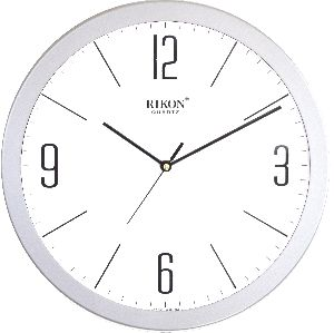1751-B SILVER WHITE Economic Wall Clock