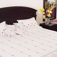 Chikankari Cotton Bed Sheet