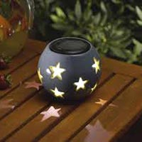 Solar Ceramic Table Top Light