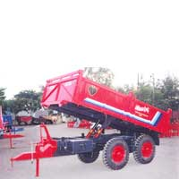 Four Wheel Tipping Tractor Trolley