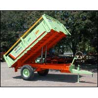 Two Wheel Tipping Tractor Trolley
