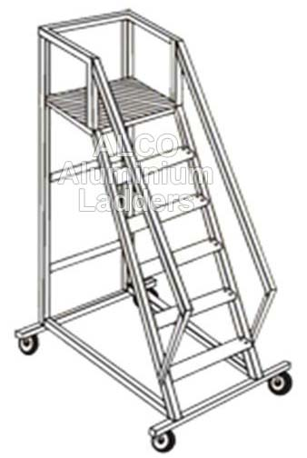 Aluminium Trolley Step Ladder 01