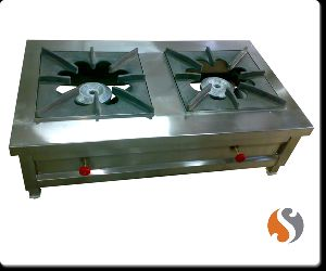 two Burner Bulk Cooking Gas Stove