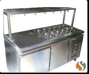 Chaat Counter with Cold Bain Marie