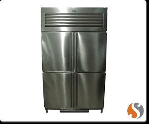 Four Door Vertical Refrigerator Freezer