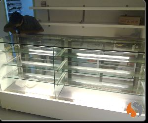 Corian Top Straight Glass Display Counter