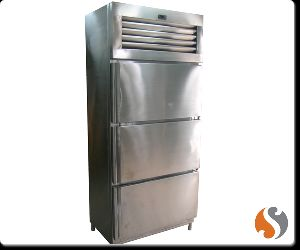 Three Door Vertical Refrigerator Freezer