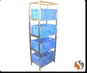 Nilkamal Plastic Crates Vegetable Storage Rack
