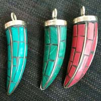 cut stone pendants